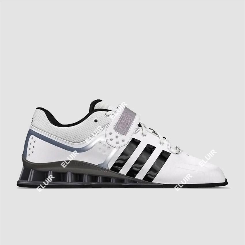 Adidas adipower sollevamento pesi scarpe bianche eluir
