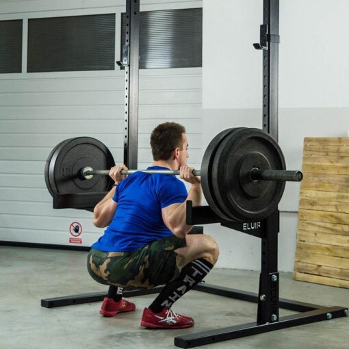 ELUIR Squat Stand Pro and Safety Arms - Workout