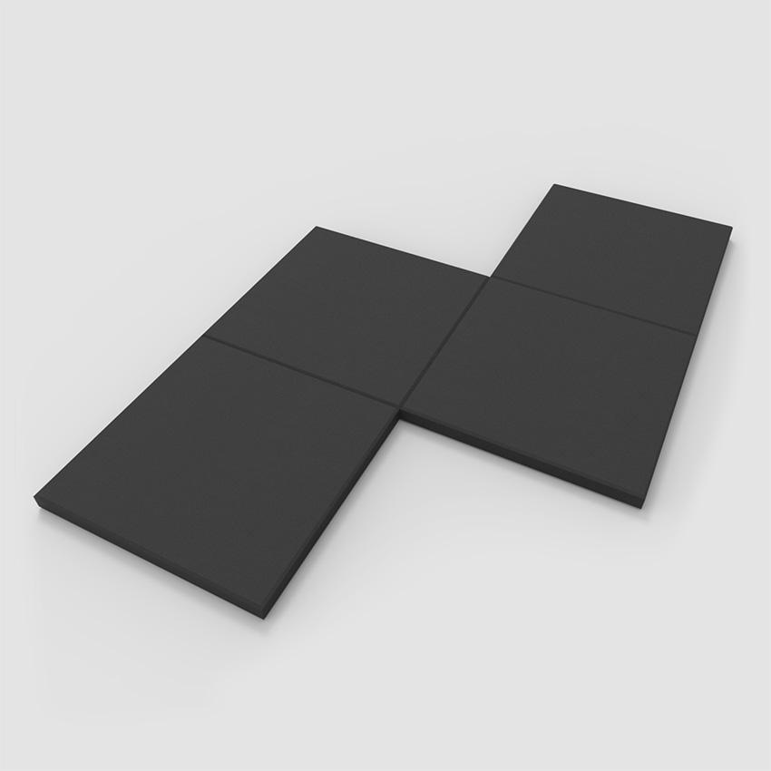 Gym Flooring Rubber Tile Set